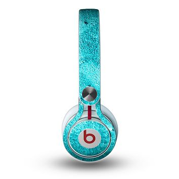 The Vibrant Blue Cement Texture Skin for the Beats by Dre Mixr Headphones
