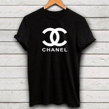 chanel hot letters print t shirt top g  number 2