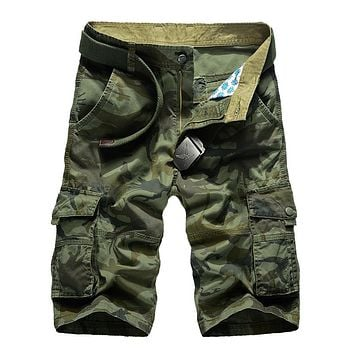 Camouflage Camo Cargo Shorts Men New Mens Casual Shorts Male Loose Work Shorts Man Military Short Pants Plus Size 29-44