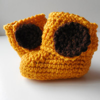 Giraffe Baby Booties - Crochet - Gold and Brown