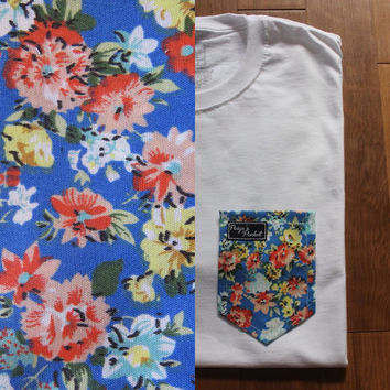 Jaimie's Floral Paige's Pocket Tee Shirt