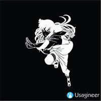 NARUTO HINATA HYUUGA ANIME DECAL STICKER
