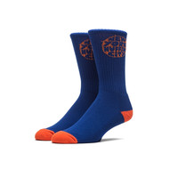 Kevin Lyons Jaquard Knit Socks In Royal