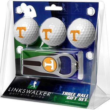 Tennessee Volunteers 3 Ball Gift Pack with Hat Trick Divot Tool