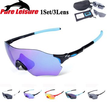 PureLeisure Polarized Fishing Glasses Mens Sport Sunglasses Clip Lunettes De Soleil Lunettes for Hiking Fishing 3 Lens