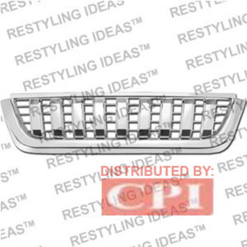 Ford 2002-2005 Ford Explorer Chrome Rascal (Vertical Bar) Abs Grille Performance