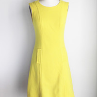Vintage 1960s Yellow Wool Dress by Harburt