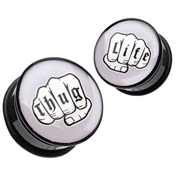 Thug Life Single Flared Ear Gauge Plug