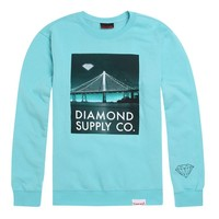 Diamond Supply Co Diamond Lit Bridge Crew Fleece - Mens Hoodie - Green