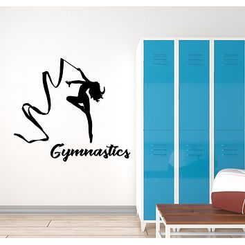 Vinyl Wall Decal Rhythmic Gymnastics Sport Girl Logo Signboard Stickers (3190ig)