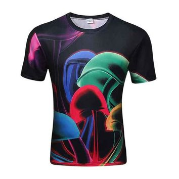 Colorful 3D Printed High Quality Tees #abstract