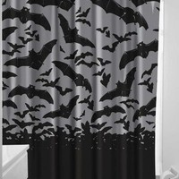 Sourpuss Spooksville Bats Shower Curtain