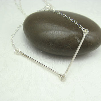 Linked Silver Necklace