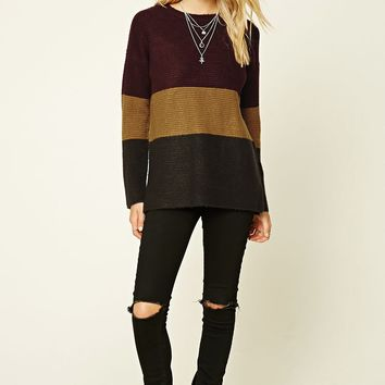 Colorblock Boxy Sweater Top