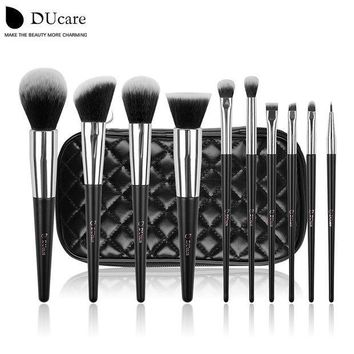ESBONHS DUcare  make up brushes 10pcs professional brand makeup brushes high quality brush set with black bag beauty essential brushes