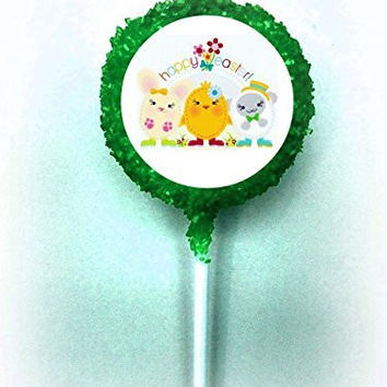 EASTER White Chocolate Covered Oreo Lamb Chick Pops