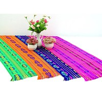 """Mexican Party Pack - 12 Table Runners 14x60"""" + Free Shipping"""