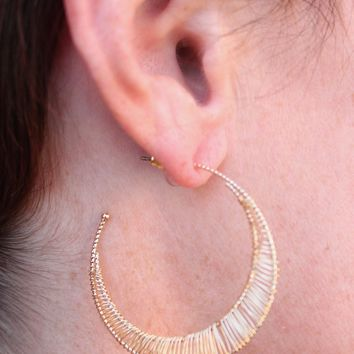Katya Wire Wrap Hoop Earring
