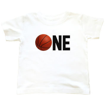 One Birthday Basketball - T Shirt