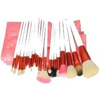 20pcs White Professional Cosmetic Makeup Make up Brush Brushes Set Kit With Pink Bag Case: Beauty
