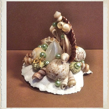 Coastal Wedding Cake Topper & | Eagle414 Sea Shell Creations
