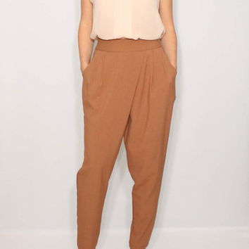 Light brown pants Harem Pants Wrap Pants Office Fashion