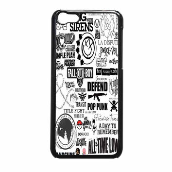 Fall Out Boy All Time Low Pierce The Veil Band And Bands iPhone 5c Case