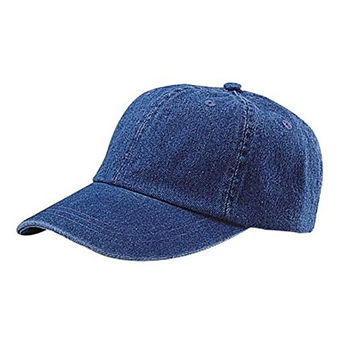 Low Profile Unstructured Denim Garment Washed Dad Cap