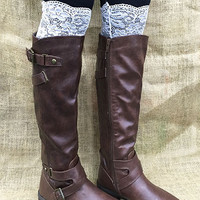 White Lace Boot Topper -CLOSEOUT