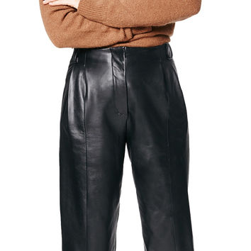 Bess Leather Trouser Black