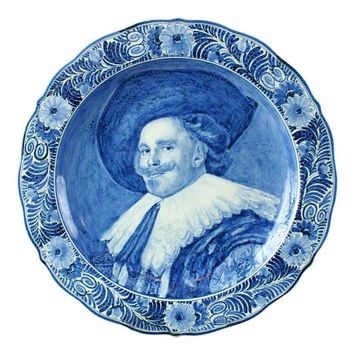 Pre-owned Vintage Blue and White Delft Plate