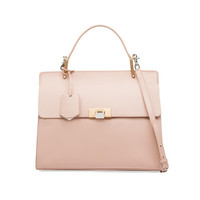 Balenciaga Le Dix Cartable M Old Pink - Women's Top Handle Bag