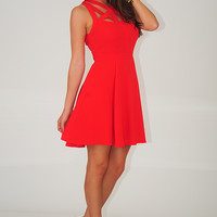 Just A Twirl Dress: Red
