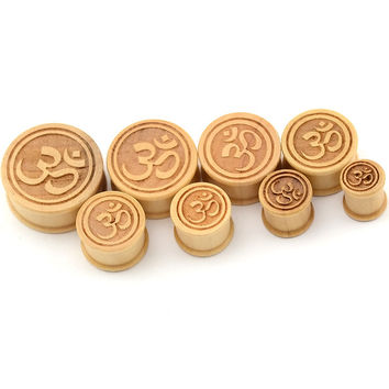 new design wooden ear tunnel plugs India printed custom made ear tunnel piercing jewelry