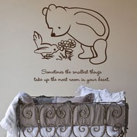 Classic Pooh Sometimes the smallest things take up quote wall decal