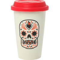 Sourpuss Red Sugar Skull Tumbler