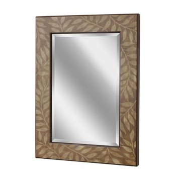 Leaf Silhouette Wall Mirror (1152) - Illuminada