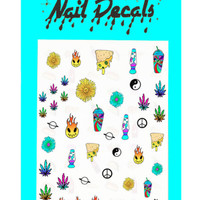 420 FRIENDLY NAIL DECALS