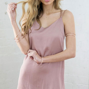 FOOL'S CHARM DRESS (DUSTY PINK)