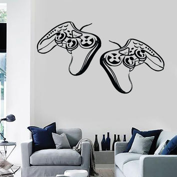 Wall Stickers Vinyl Decal Video Games Joysticks Gamer Playstation Decor (z2214)