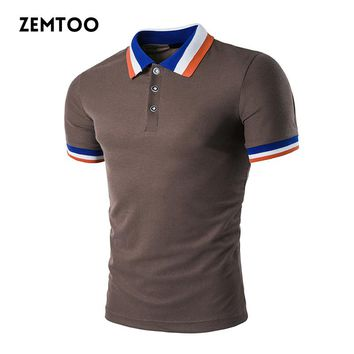 Summer Casual Polo Shirt Men Polo Homme Solid Color Short Sleeve Polo Shirt Slim Fit Breathable Camisa Polo 10 Colors ZE0250