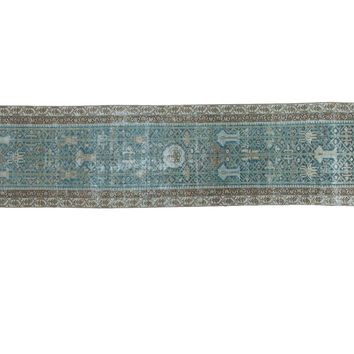 2.5x12.5 Distressed Malayer Rug Runner