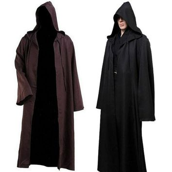 Hooded Robe Cloak Cape Costume Adult Men Cosplay - Free Shipping