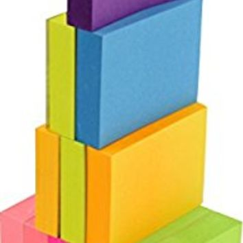 "4A Sticky Notes, 1-1/2"" x 2"", Neon Assorted Collection, 100 sheets/pad, 12 pads/pack (4A 301x12-N)"