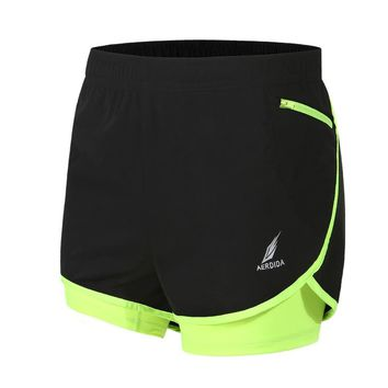 2 in 1 Men's Marathon Running Shorts Track and field competition Training Shorts M-4XL Man Gym Short Pants Tenis Masculino