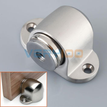 304 Stainless Steel Casting Powerful Door Stop Magnetic Door Stopper Doorstops