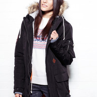 Women's Retro Fishtail Black Gratengen Parka
