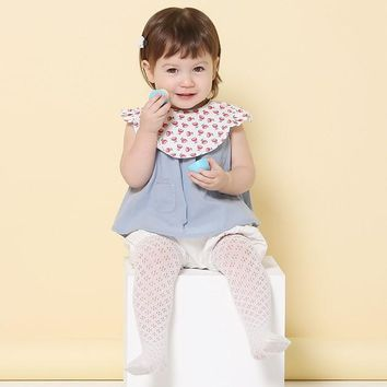 retail 1 pair 2017 new Korea summer Hollow baby girl Mesh pantyhose two colors tights suitable for 1-3 years baby TWT0058