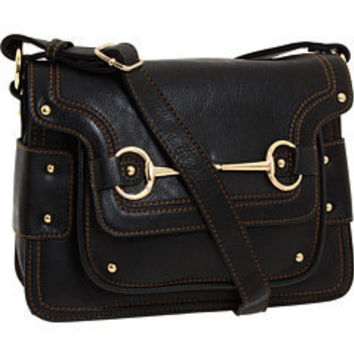 Melie Bianco Nancy Cross Body Structure Bag Black - 6pm.com