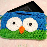 Adorable owl clutch / kindle fire carrier